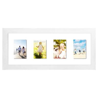 Float Frame White 10x26 Glass for 3 - 5x7 Photos - Room Essentials™