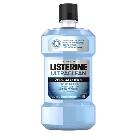 Listerine Ultraclean Zero Arctic Mint Mouthwash - 16.9 fl oz - image 1 of 4