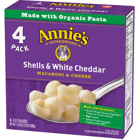 Annie's Shells & White Cheddar Macaroni & Cheese 4pk - 24oz - image 1 of 3