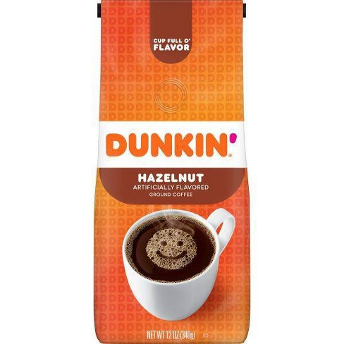 Dunkin' Hazelnut Flavored Light Roast Ground Coffee - 12oz - image 1 of 4