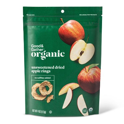 Organic Dried Unsweetened Apple Rings Snacks - 4oz - Good & Gather™