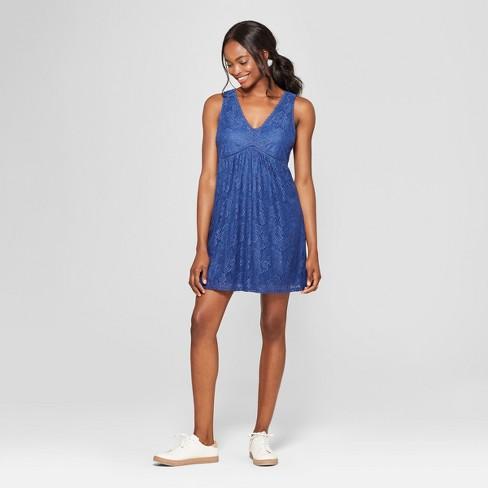 ee008b12c Women's Lace-Up Back Dress - Lots of Love by Speechless (Juniors') Blue
