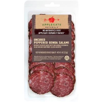 Applegate Natural Uncured Peppered Genoa Salami - 4oz