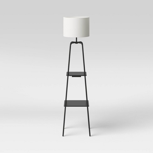 Etagere Power Source Shelf Floor Lamp Black - Threshold™ - image 1 of 4