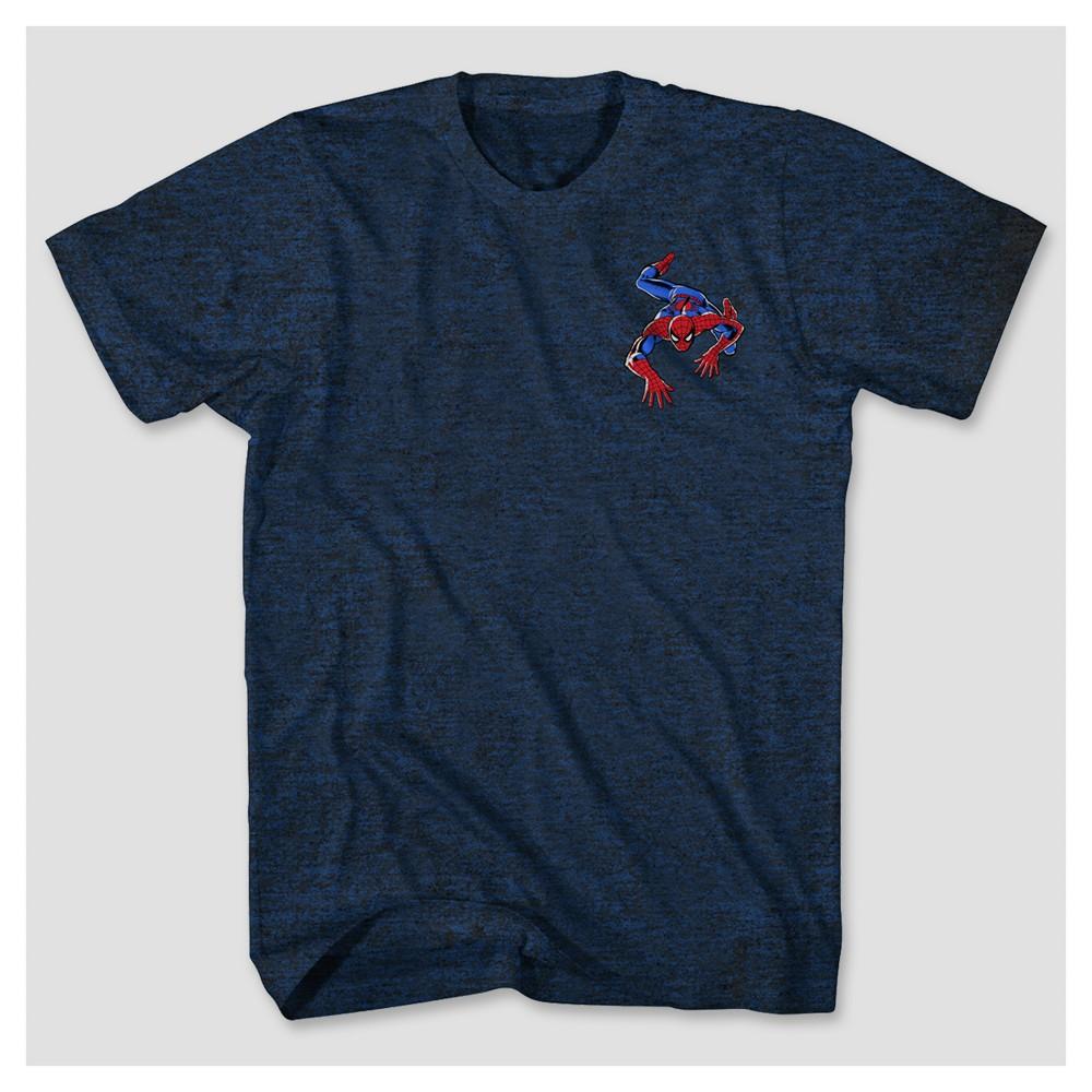 Men's Spider-Man Webby T-Shirt - Indigo Heather S, Blue