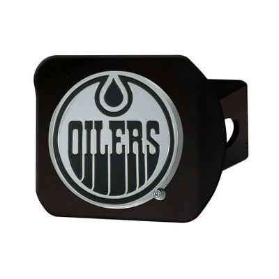 NHL Edmonton Oilers Chrome Metal Hitch Cover - Black