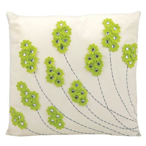 Sparkle Flowers Indoor/Outdoor Throw Pillow - Nourison - image 1 of 1