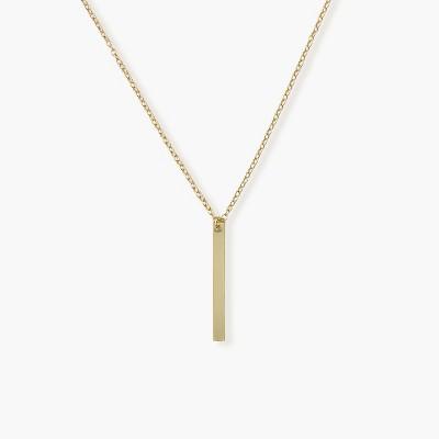 Sanctuary Project Thin Bar Drop Pendant Necklace Gold