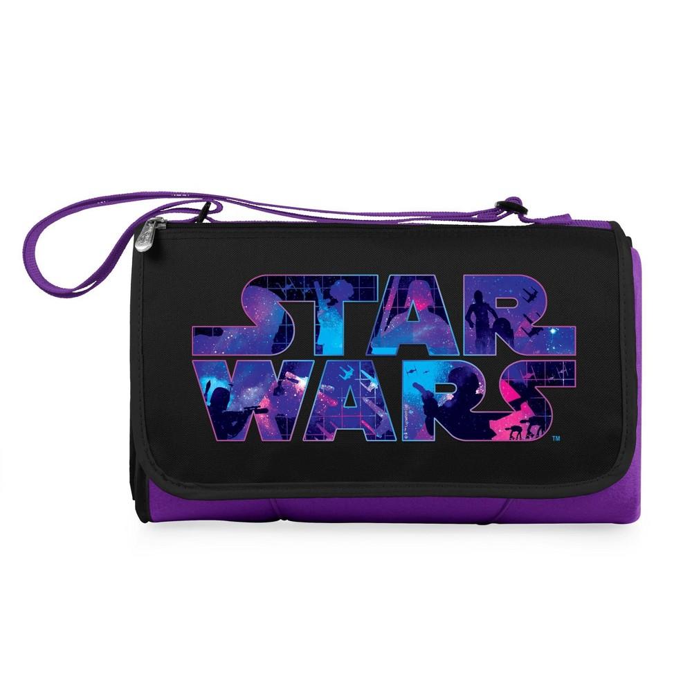 Picnic Time Star Wars Blanket Tote Outdoor Picnic Blanket Purple Black