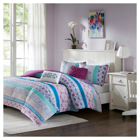 Callie Floral Printed Comforter Set - image 1 of 4