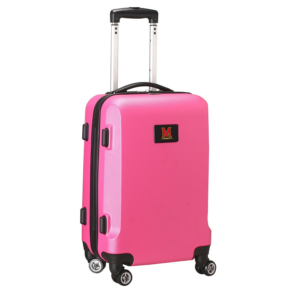 NCAA Maryland Terrapins Pink Hardcase Spinner Carry On Suitcase
