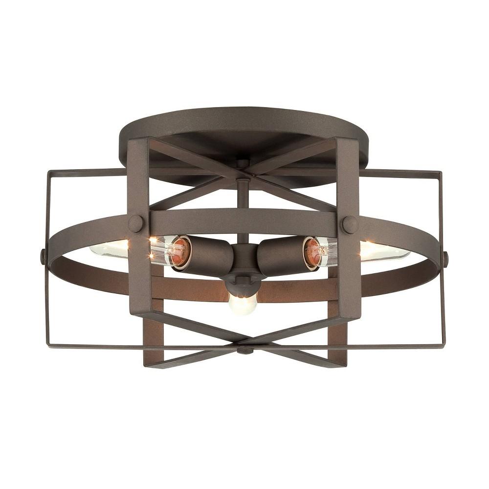 Image of Reel 3 Light Ceiling Light - Rustic Bronze