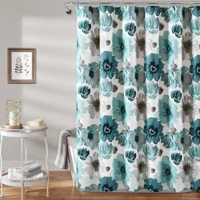 Leah Shower Curtain Blue - Lush Decor
