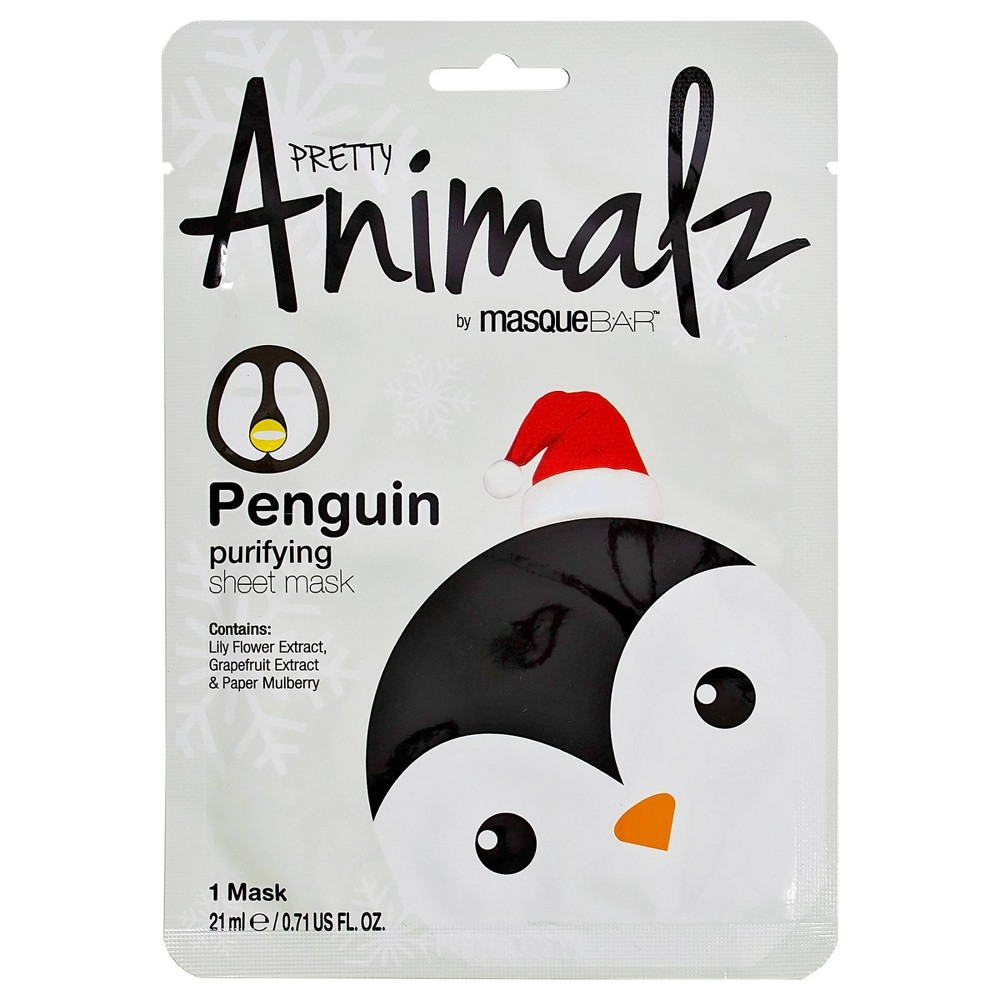 Image of Masque Bar Pretty Animalz Penguin Purifying Sheet Mask - 0.71 fl oz