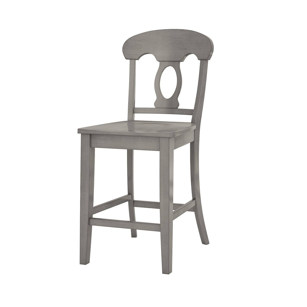 South Hill Napoleon Back 24 in. Counter Chair (Set of 2) Gray - Inspire Q
