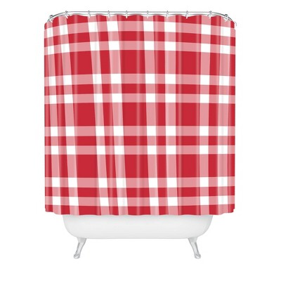 Lisa Argyropoulos Cheery Checks Shower Curtain Red - Deny Designs