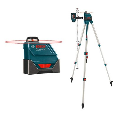 Bosch GLL 150 ECK-RT Self-Leveling 360-Degree Exterior Laser Level Kit with LD3 Detector, Aluminum Tripod Stand, and Carrying Case