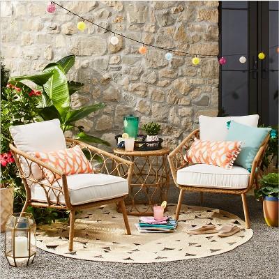 Britanna 3pc Patio Chat Set Linen - Opalhouse™