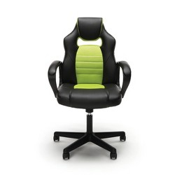 Racing Style Adjustable Leather/Mesh Gaming/Office Chair with Wheels - OFM