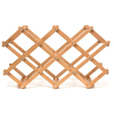 Lipper International Bamboo Folding Wine Rack
