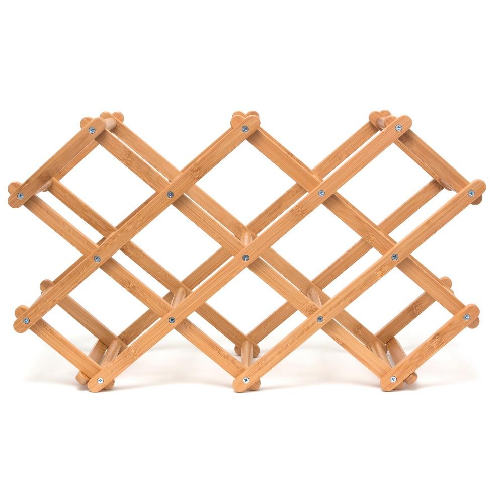 Image of Lipper International Bamboo Folding Wine Rack, Brown
