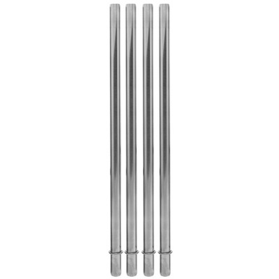Aladdin Stainless Steel 4pk Reusable Straws