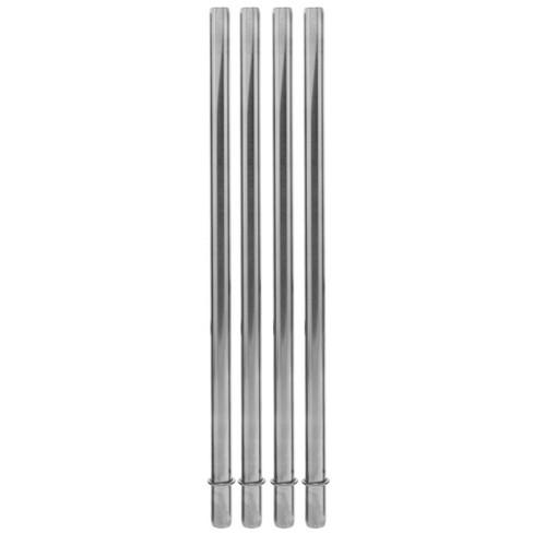 Aladdin Stainless Steel 4pk Reusable Straws - image 1 of 2