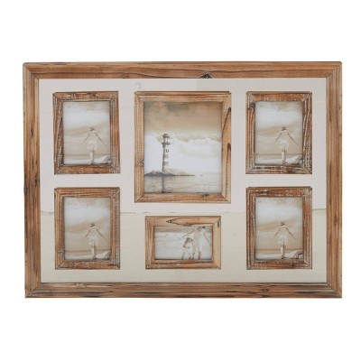 """24"""" x 31"""" Farmhouse Wooden 6 Opening Wall Mounted Picture Frame - Olivia & May"""