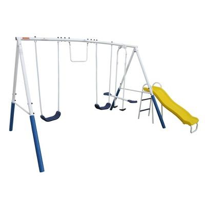 XDP Recreation Blue Ridge Play Outdoor Backyard Playset Kids Swing Set w/ Slide