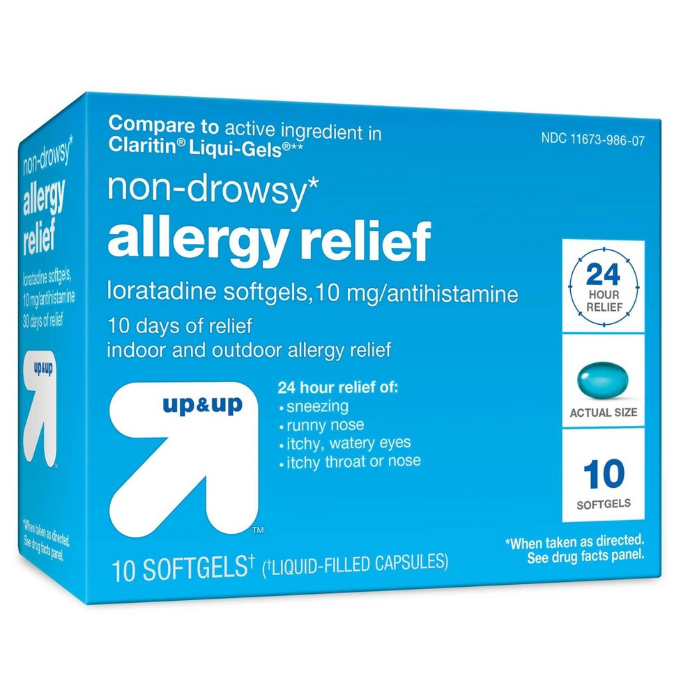 Loratadine Allergy Relief Softgels - 10ct - Up&Up
