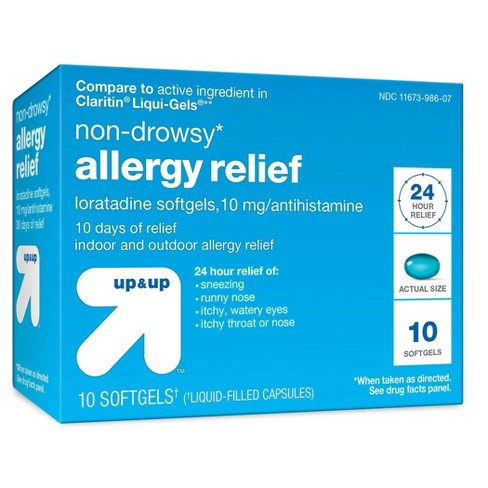 Loratadine Allergy Relief Softgels - 10ct - Up&Up™ - image 1 of 2