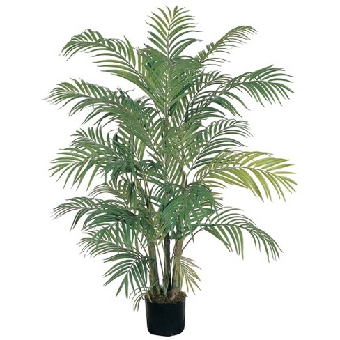 4ft Artificial Areca Palm Tree in Pot - Nearly Natural - image 1 of 2