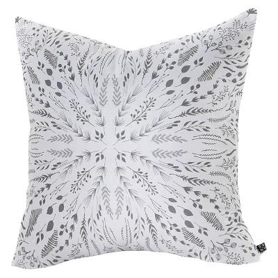 Gray/Abstract Iveta Abolina Maze Throw Pillow (26 x26 )- Deny Designs®