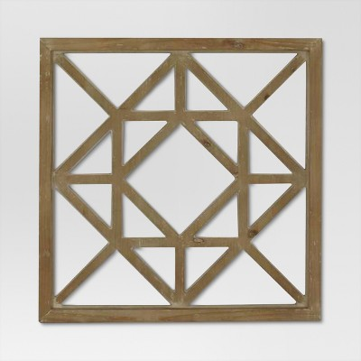 Lattice Wood Square 25 x25  - Threshold™