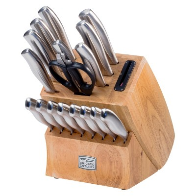 Chicago Cutlery® 18 Piece Cutlery Block Set with Sharpener