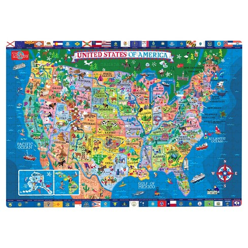 Ts Shure United States Wooden Puzzle 500pc Target - Puzzle-us-map