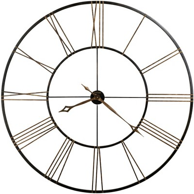 Howard Miller Postema Gallery Wall Clock 625-450 – Oversized Round Wrought-Iron with Quartz Movement