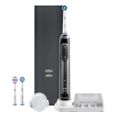Oral-B Genius 8000 Rechargeable Electric Toothbrush Powered by Braun - Black with Premium Travel Case