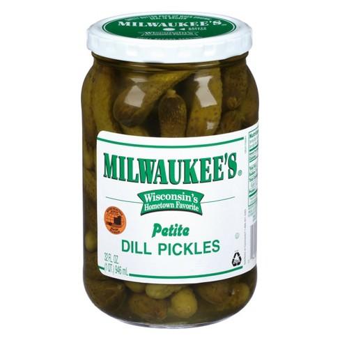 Milwaukee S Petite Dill Pickles 32 Fl Oz Target