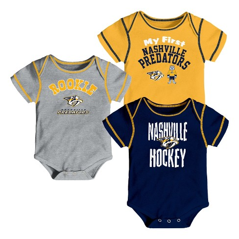 NHL Nashville Predators Boys' Game Winner 3pk Body Suit Set - image 1 of 4