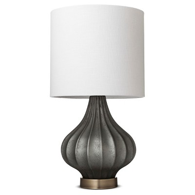 Rigid Glass Accent Lamp Dark Gray Lamp Only - Threshold™