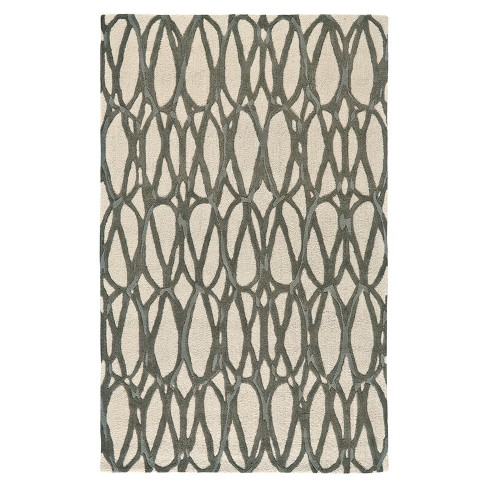 Titanium Geometric Tufted Rug - image 1 of 2