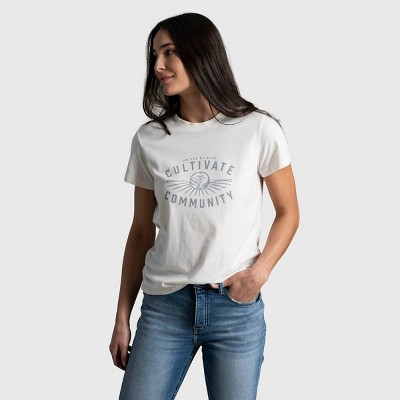 Women's United By Blue Cultivate Community Short Sleeve Graphic T-Shirt - Bone White