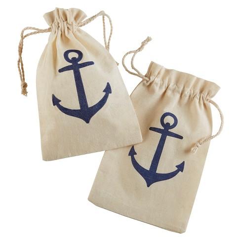 "24ct ""Voyages"" Anchor Muslin Favor Bag - image 1 of 1"