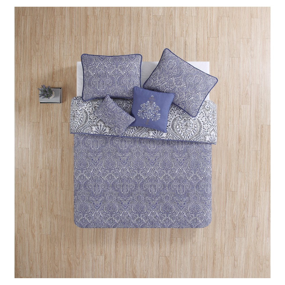 Purple Jolie Quilted Coverlet Set (Twin XL) - Vcny