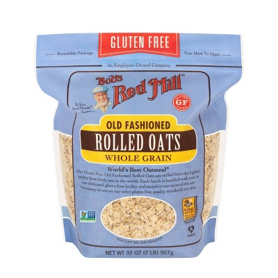 Bob's Red Mill Gluten Free Old Fashioned Rolled Oats - 32oz
