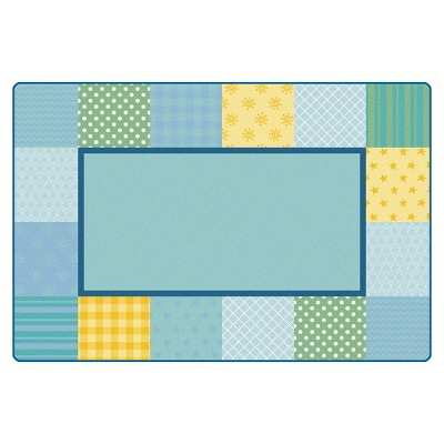 6'x9' Rectangle Woven Star Area Rug Blue - Carpets For Kids