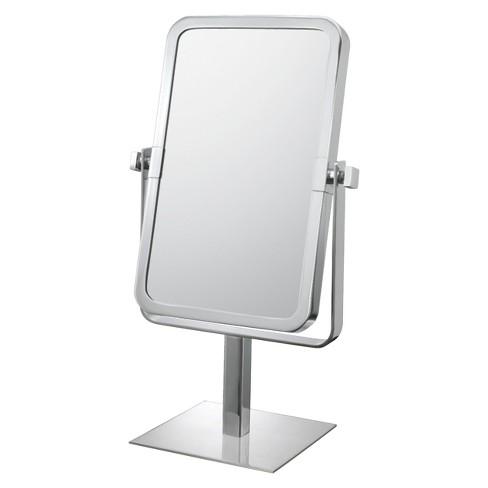 Bathroom Mirror Image Rectangular Vanity 95x6 Brushed Nickel