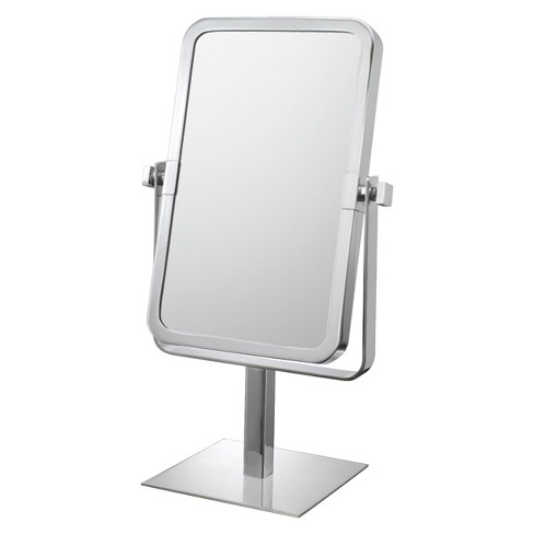 Bathroom Mirror Image Rectangular Vanity 95x6 Brushed Nickel