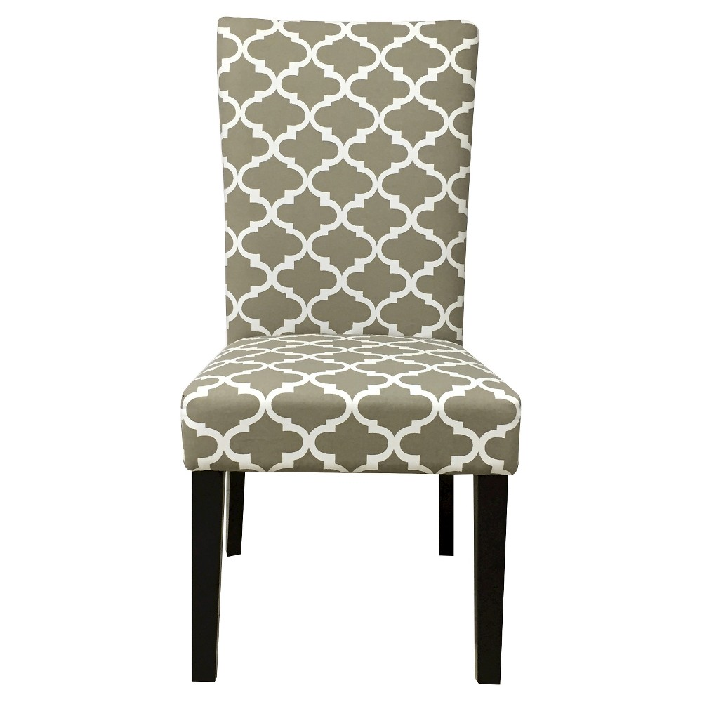 Aurora Fabric Geometric Print Dining Chair Khaki (Green) (Set of 2) - Christopher Knight Home